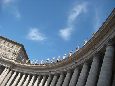 Warten auf den Papst. Oder: Himmlische Sprungschanze.