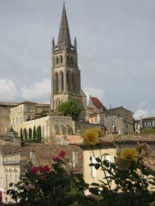 Blick von und auf St. Emilion