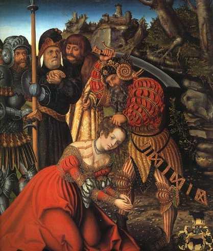 Lukas Cranach der Ältere, Das Martyrium der Heiligen Barbara, Metropolitan Museum of Art, New York as found at www.heiligenlexikon.de