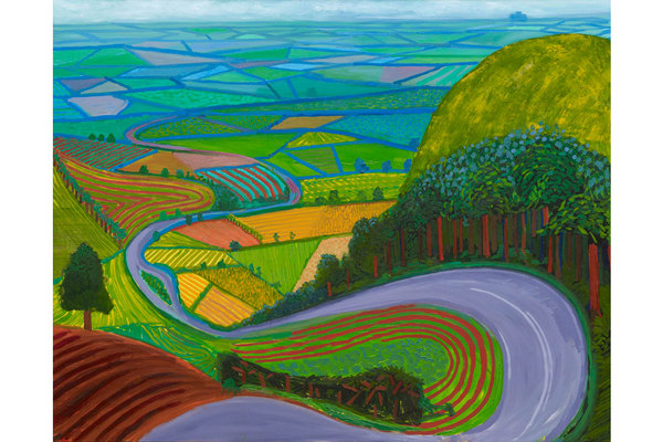 "David Hockney: ""Garrowby Hill"", 1998"