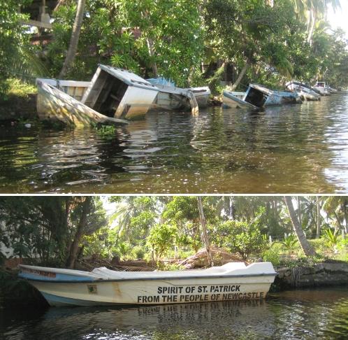 Maritime Tsunami-Opfer und Beispiel einer Spende / Maritime tsunami victims and sample of a donation