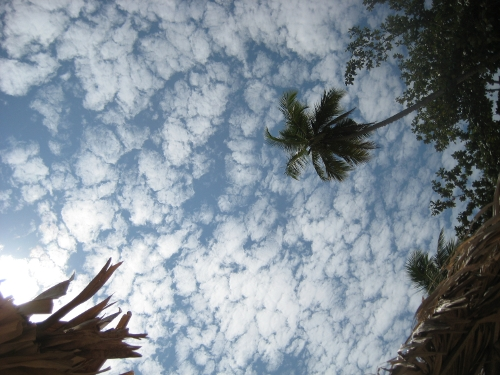 Sky over Goyambokka Beach, Tangalle (as seen from a sun lounger)