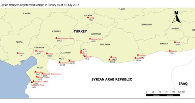 Syrische Flüchtlinge in Camps in der Türkei / Syrian refugees in camps in Turkey